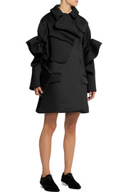 Simone Rocha Ruffled stretch-scuba coat