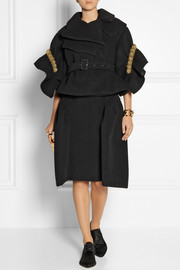 Simone Rocha Cropped embellished bonded wool jacket