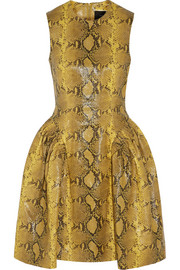 Simone Rocha Snake-effect leather mini dress