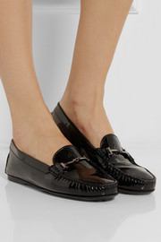 Tod's City Gommino patent-leather loafers