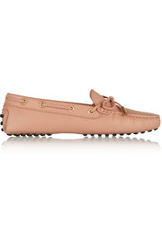 Gommino textured-leather loafers