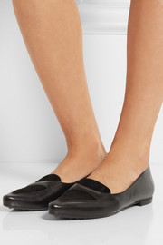 Tod's Leather and suede point-toe flats