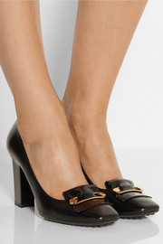 Tod's Safety pin-embellished leather pumps