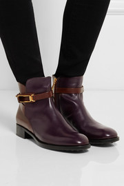 Tod's Two-tone leather ankle boots