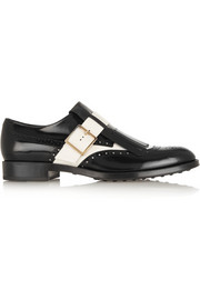 Tod's Two-tone glossed-leather loafers