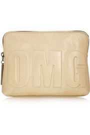 3.1 Phillip Lim OMG embossed metallic leather clutch