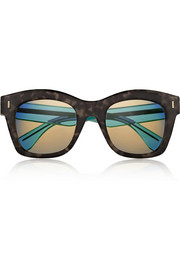D-frame acetate mirrored sunglasses