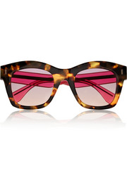 Two-tone D-frame acetate sunglasses