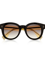 Fendi Two-tone D-frame acetate sunglasses