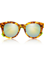 Fendi D-frame acetate mirrored sunglasses
