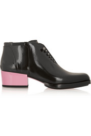 3.1 Phillip Lim Newton glossed-leather ankle boots