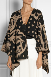 Burberry Prorsum Wool and cashmere-blend jacquard cape