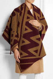 Burberry Prorsum Wool and cashmere-blend wrap