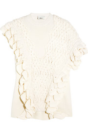 3.1 Phillip Lim Ruffle-trimmed wool sweater