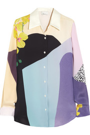 3.1 Phillip Lim Printed silk-crepe shirt