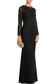 Needle & Thread Embellished floral-lace gown