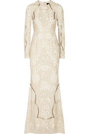 Needle & Thread Embellished crepe gown