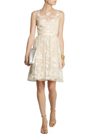 Needle & Thread Embroidered silk-organza dress