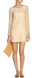 Needle & Thread Embellished lace mini dress