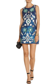 Needle & Thread Porcelain sequined mini dress