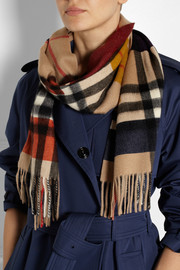 Burberry Shoes & Accessories Checked cashmere scarf