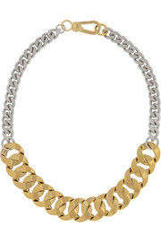 Marc by Marc Jacobs Katie gold-plated and silver-plated choker
