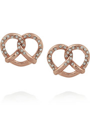 Marc by Marc Jacobs Salty Pretzel rose gold-tone cubic zirconia earrings