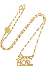 Bunny Hop gold-plated cubic zirconia necklace