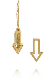 Marc by Marc Jacobs Follow Me gold-plated arrow earrings