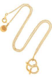 Marc by Marc Jacobs Salty Pretzel gold-tone cubic zirconia necklace