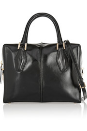Tod's D-Cube Bauletto medium glossed-leather tote