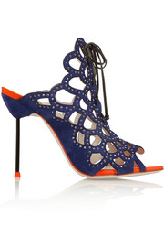 Sophia Webster Greta crystal-embellished cutout suede sandals