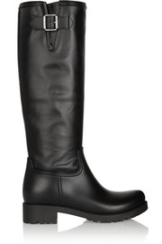 MM6 Maison Martin Margiela Rubber and coated-canvas rain boots