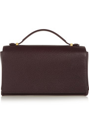 The Row Book Bag textured-leather clutch