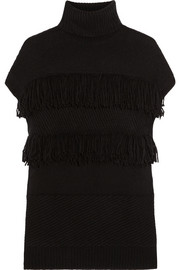 Derek Lam Fringed cashmere turtleneck sweater