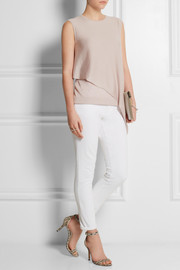 Derek Lam Asymmetric cashmere and silk-blend top