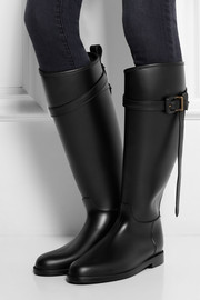 Burberry Shoes & Accessories Leather-trimmed Wellington boots