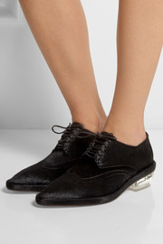 Simone Rocha Calf hair brogues