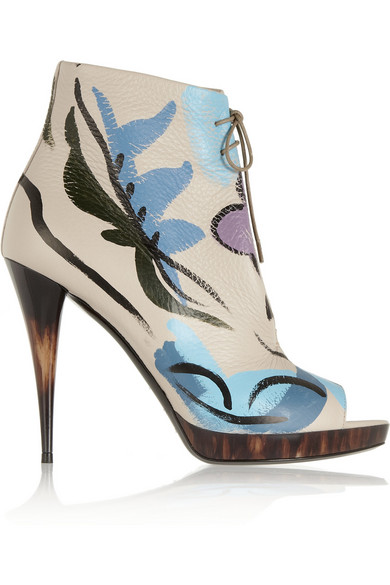 Sale alerts for Burberry Prorsum Painted textured-leather ankle boots - Covvet