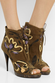 Burberry Prorsum Painted suede ankle boots