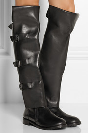 Tibi Gia leather over-the-knee boots