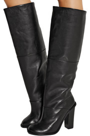 Tibi Vlada leather knee boots