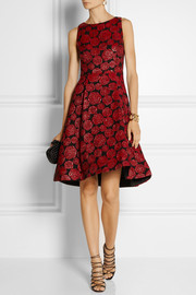 Alice + Olivia Bailey floral-jacquard dress
