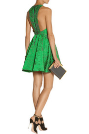 Alice + Olivia Tevin jacquard mini dress