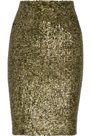 Alice + Olivia Bryce sequined pencil skirt