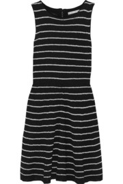Monah striped stretch-knit mini dress