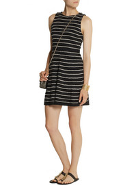 Alice + Olivia Monah striped stretch-knit mini dress