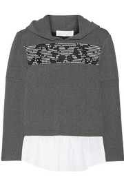Thakoon Addition Hooded stretch-knit sweater