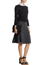 Thakoon Addition Polka-dot wool-blend skirt