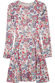 ALICE by Temperley Lou Lou floral-print satin mini dress